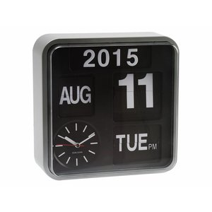 "Karlsson Wall clock ""Mini flip"" silver"