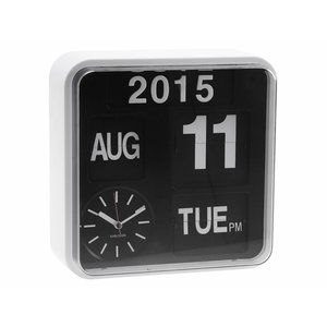 "Karlsson Wall clock ""Mini flip"" white"