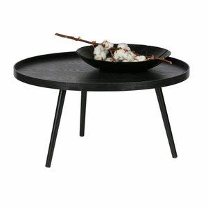 WOOOD Mesa side table Xl wood black 39xØ78
