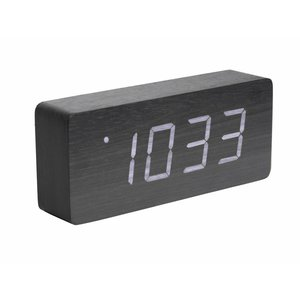 "Karlsson Table Clock / Alarm Clock ""Tube"" Black"