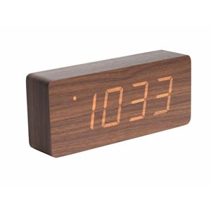 "Karlsson Table Clock / Alarm Clock ""Tube"" Brown"