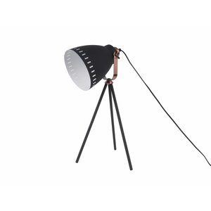 Leitmotiv Table lamp Mingle black with copper accent
