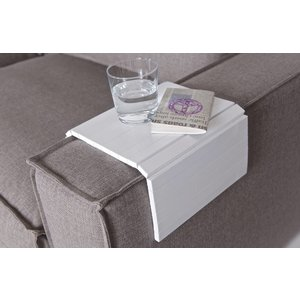 WOOOD Flexibles Sofatablett Weiss - M