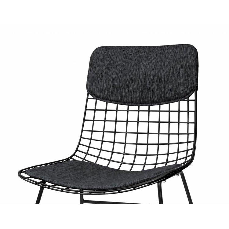 HKliving HKliving Comfort Kit Voor Draadstoel zwart