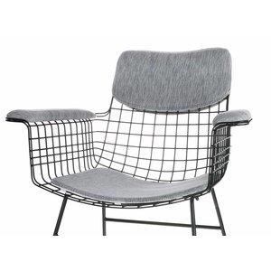 HKliving Comfort Kit für Drahtstuhl Armlehne grau