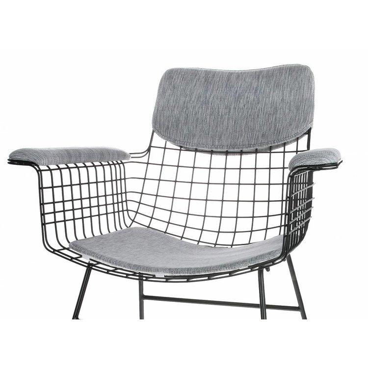 HKliving HKliving Comfort Kit für Drahtstuhl Armlehne grau