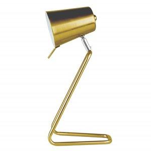 """Leitmotiv Table lamp """"Z"""" metal gold"""