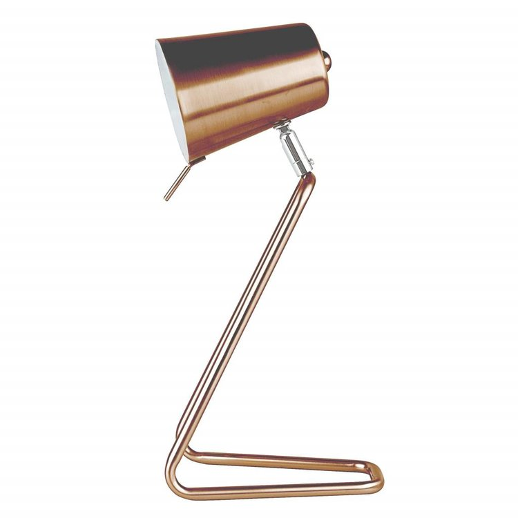"Leitmotiv Leitmotiv Table lamp ""Z"" copper satin finish"