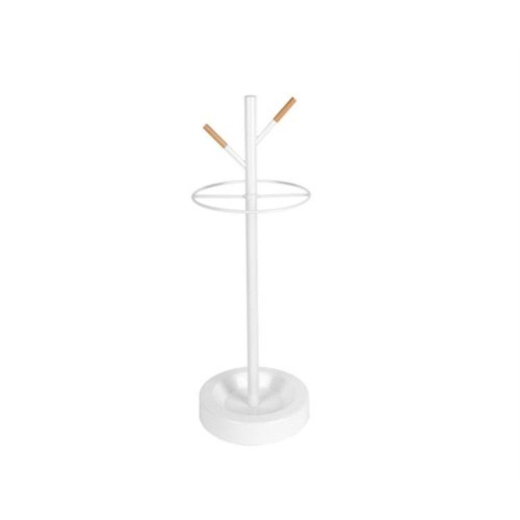 Leitmotiv Leitmotiv Umbrella holder Fushion white metal/rubber wood