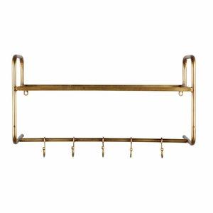 BePureHome Kapstok Hatstand hangend antique brass metaal goud