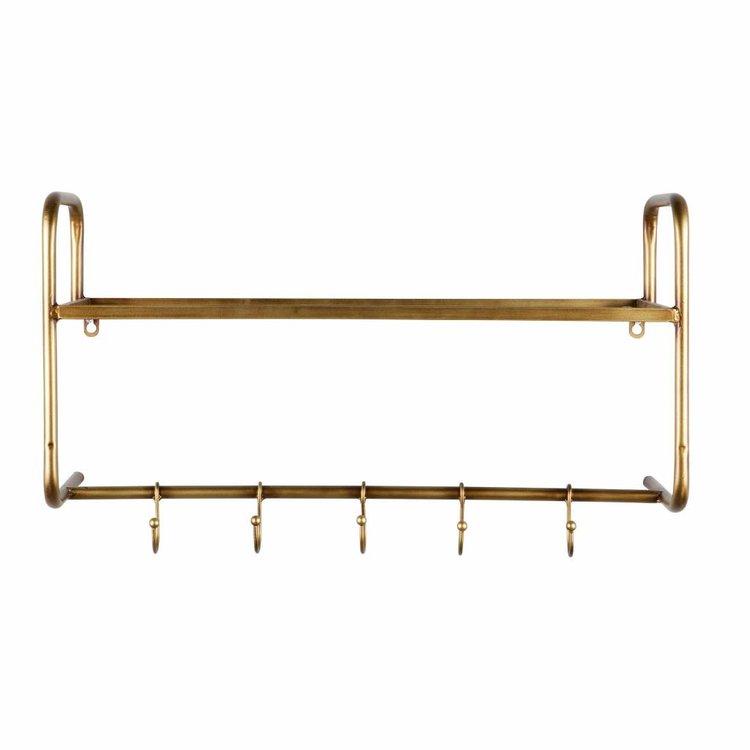 BePureHome BePureHome Kapstok hangend antique brass metaal goud