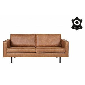 BePureHome Sofa 2,5-Sitzer Rodeo recyceltes Leder cognac braun