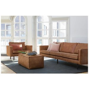 BePureHome BePureHome Sofa 2,5 seater Rodeo recycle leather cognac brown