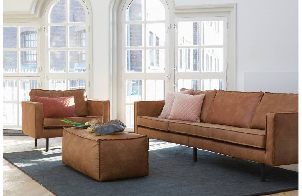 Fine Bepurehome Bepurehome Sofa 2 5 Seater Rodeo Recycle Leather Cognac Brown Alphanode Cool Chair Designs And Ideas Alphanodeonline