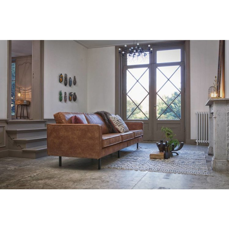Groovy Bepurehome Bepurehome Sofa 3 Seater Rodeo Recycle Leather Cognac Brown Alphanode Cool Chair Designs And Ideas Alphanodeonline