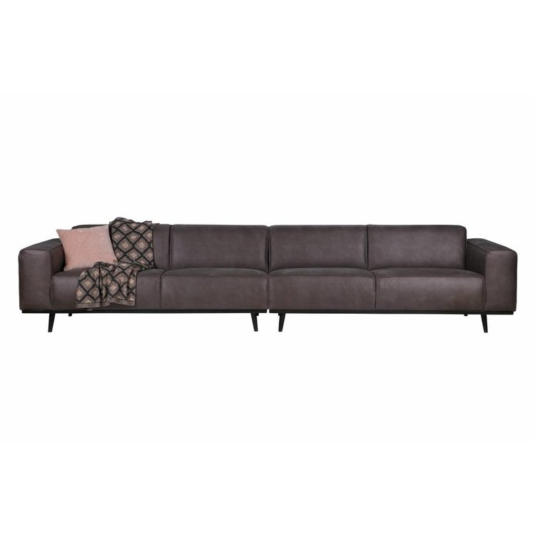 BePureHome BePureHome Couch Statement XL 4-seater leather grey