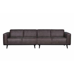 BePureHome Sofa Statement 4-Sitzer Leder grau