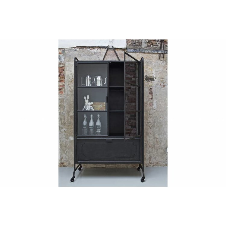 Bepurehome Cabinet Steel Storage Metal Black Orangehaus