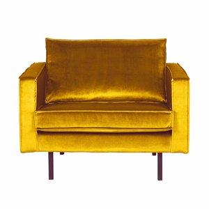 BePureHome Fauteuil Rodeo fluweel oker geel