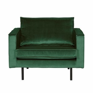 BePureHome Fauteuil Rodeo velvet forest green