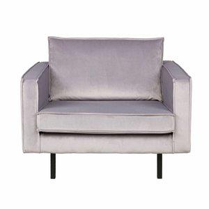BePureHome Rodeo Velvet Armchair Light Grey