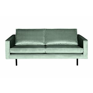 BePureHome Couch 2,5-seater Rodeo velvet mint green