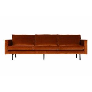 BePureHome Rodeo Sofa 3 Seater Velvet Rust