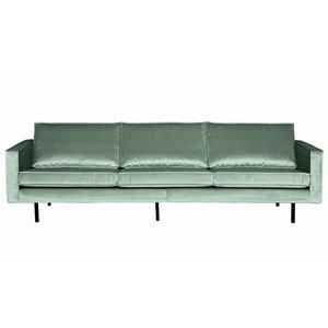 BePureHome Sofa 3-seater Rodeo velvet mint green