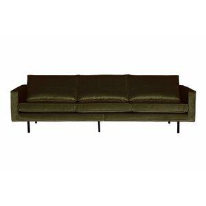 BePureHome Sofa 3-seater Rodeo velvet hunter dark green