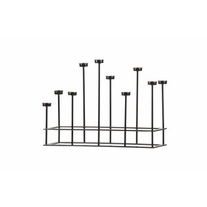 BePureHome Surround Candleholder Metal Black