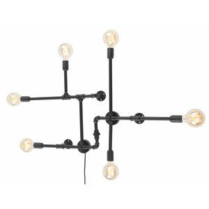 It's about Romi Wandlamp Nashville 6-arm ijzer zwart