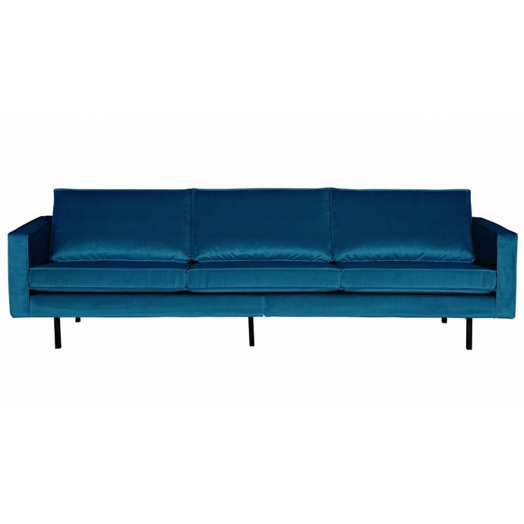 BePureHome BePureHome Couch 3-seater Rodeo velvet blue