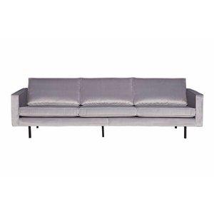 BePureHome Sofa 3-seater Rodeo velvet light gray