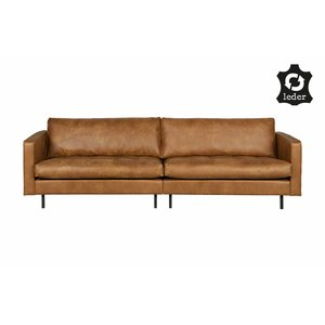BePureHome Sofa 3-seater Rodeo Classic recycle leather cognac brown
