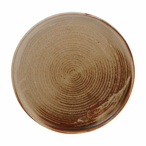 HKliving home chef ceramics: dinner plate rustic cream/brown