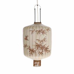 HKliving Lampe Laterne L Textil beige