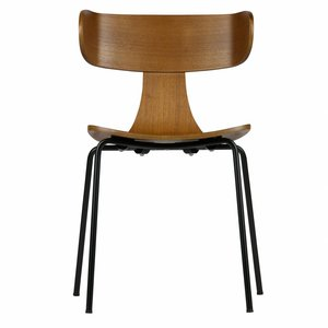 BePureHome Form Wooden Chair With Metal Legs Brown