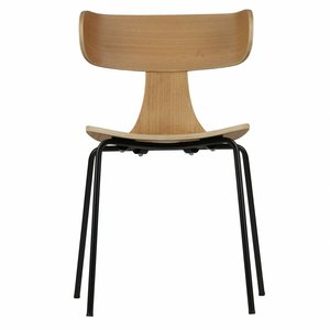 BePureHome Form Wooden Chair With Metal Legs Naturel