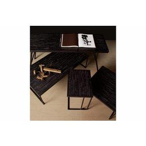 BePureHome BePureHome Bijzettafel Sharing vierkant zwart hout metaal