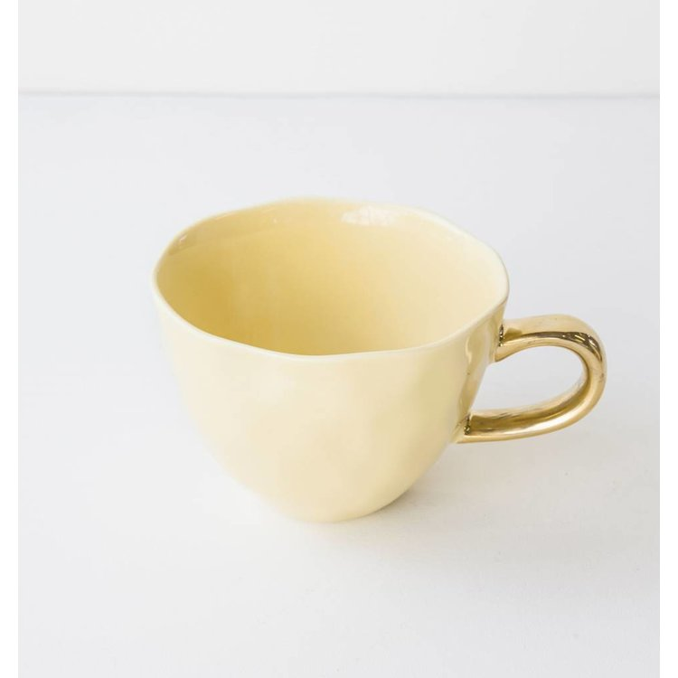 "Urban Nature Culture Amsterdam Urban Nature Culture Cup ""Good morning"" raffia yellow"