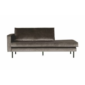 BePureHome Rodeo Daybed Left Velvet Taupe