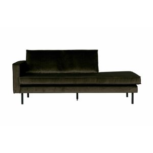 BePureHome Rodeo Daybed Left Velvet Dark Green Hunter