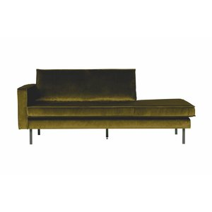 BePureHome Rodeo Daybed Left Velvet Olive