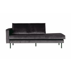 BePureHome Rodeo Daybed Left Velvet Antraciet