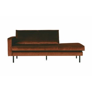 BePureHome Rodeo Daybed Left Velvet Rust