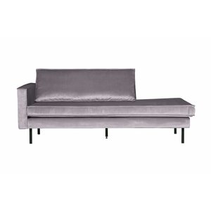 BePureHome Rodeo Daybed Left Velvet Lichtgrijs