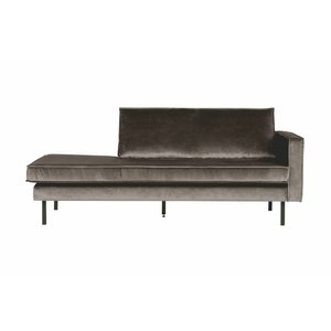 BePureHome Rodeo Daybed Right Velvet Taupe