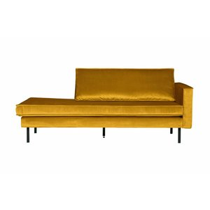 BePureHome Rodeo Daybed Right Velvet Oker