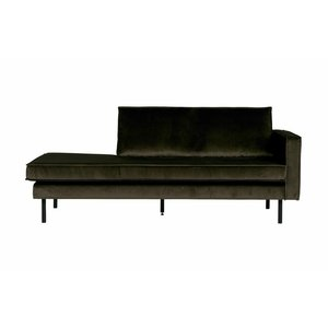 BePureHome Rodeo Daybed Right Velvet Dark Green Hunter