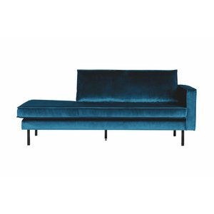 BePureHome Daybed Rodeo Right velvet blue